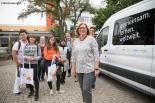 Schulleiterin OStD' Monika Nerreter mit den internationalen Gästen